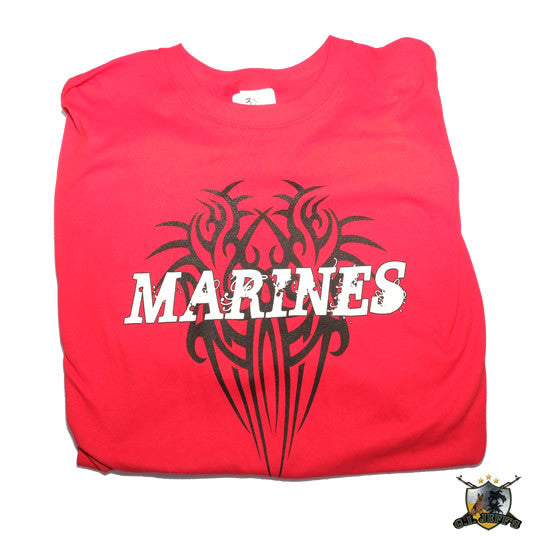 MARINES Red Tribal Tshirt