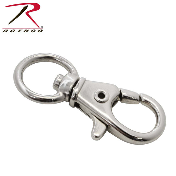 Rothco 1/2 Swivel Trigger Snap Hook / Nickel - 10 Pack