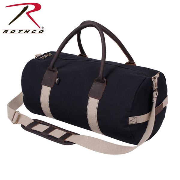 "Rothco 19"" Canvas & Leather Gym Bag"