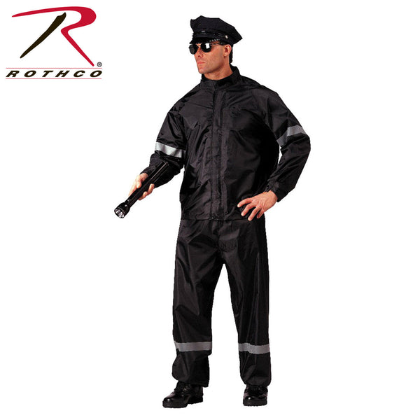 Rothco Hi-Vis 2 Piece Rain Suit With Reflective Tape