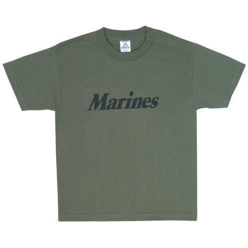 Kid's Dark Green Marines T-Shirt