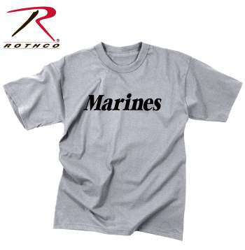 Kid's Light Gray Marines T-Shirt