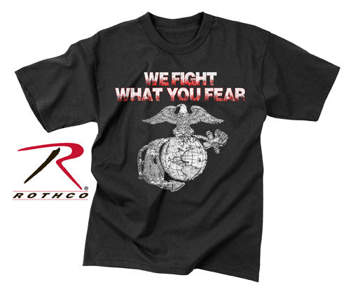 Rothco Vintage We Fight What You Fear Globe & Anchor T-Shirt