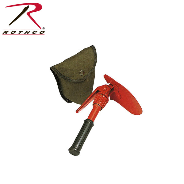 Rothco Orange Mini Pick & Shovel with Cover