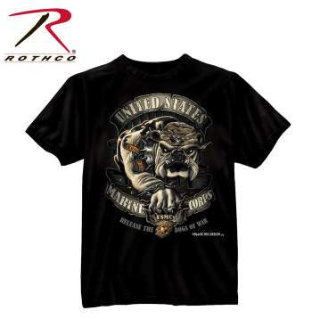 USMC Seal T-shirt Black