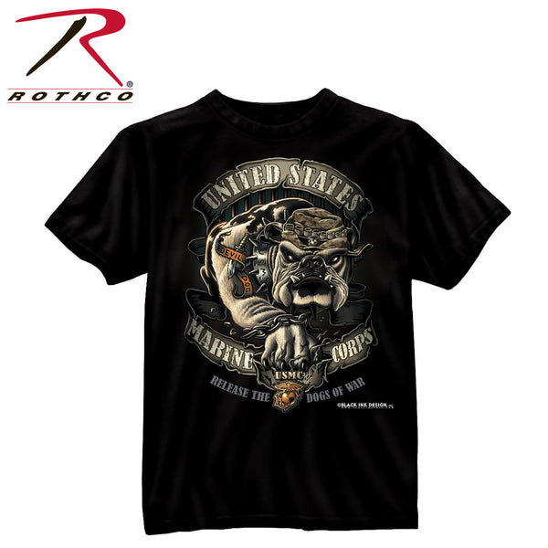 Black Ink U.S.M.C. Bulldog T-Shirt
