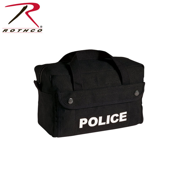 Rothco Canvas Small Black Police Logo Gear Bag