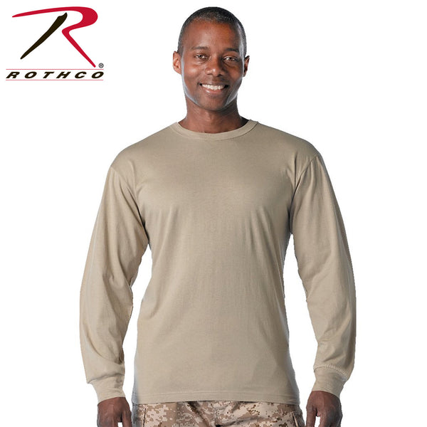 Rothco Long Sleeve Solid Cotton T-Shirt