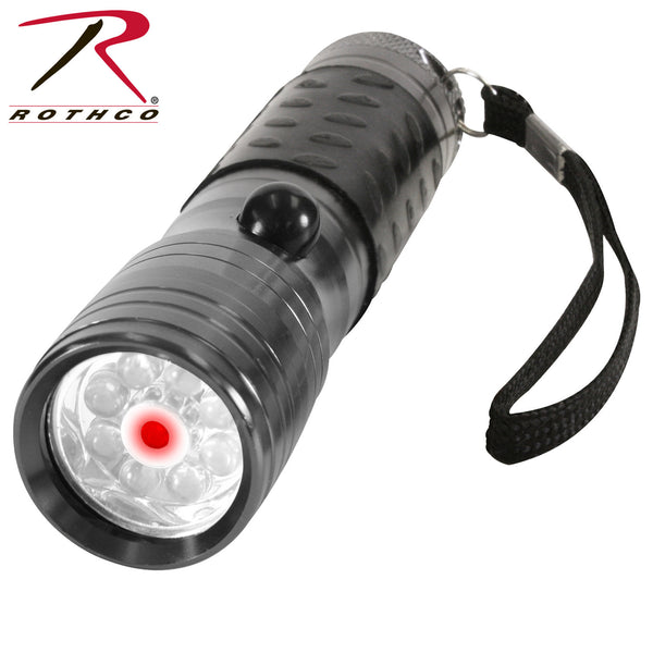 Rothco LED Flashlight w/ Red Laser Pointer