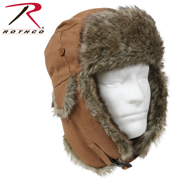 Rothco Canvas Fur Flyers Hat