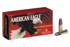 Federal American Eagle 22LR 40gr Solid Nose High Velocity AE5022 Box of 50