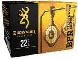 Browning 22LR Performance Rimfire 1255 fps 40 gr Black Oxide RN 400 per box