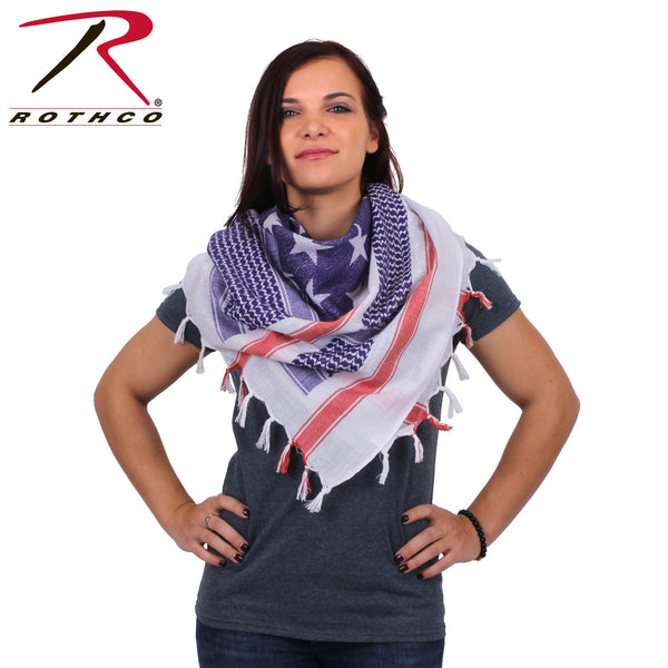 Rothco US Flag Shemagh Tactical Desert Scarf