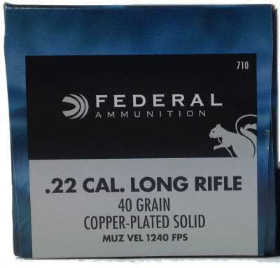 Federal 710 22LR Game-Shok 40 gr CP Solid 50 per box
