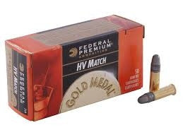 Federal 719 22LR Gold Medal HV MATCH 40 gr Solid 500 per brick