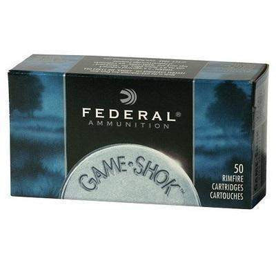 Federal 712 Gameshok 22LR 38 gr CPHP 500 per box