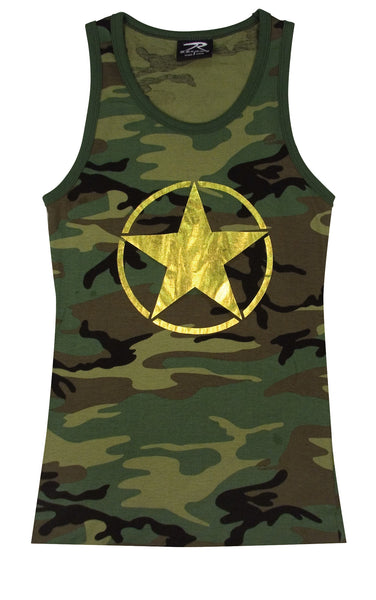 Rothco Women's Tank Top w/ Gold Foil Star