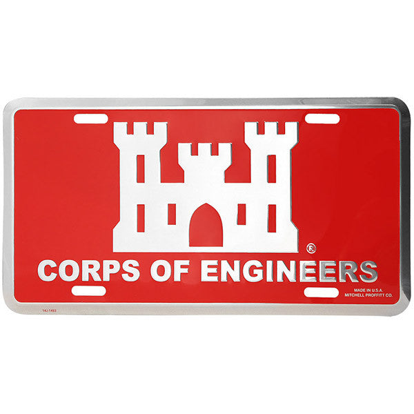 Corp of Engineers License Plate