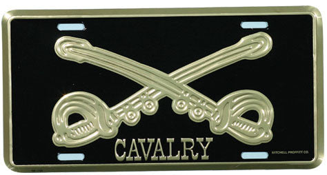 Cavalry Crossed Swords License Plate