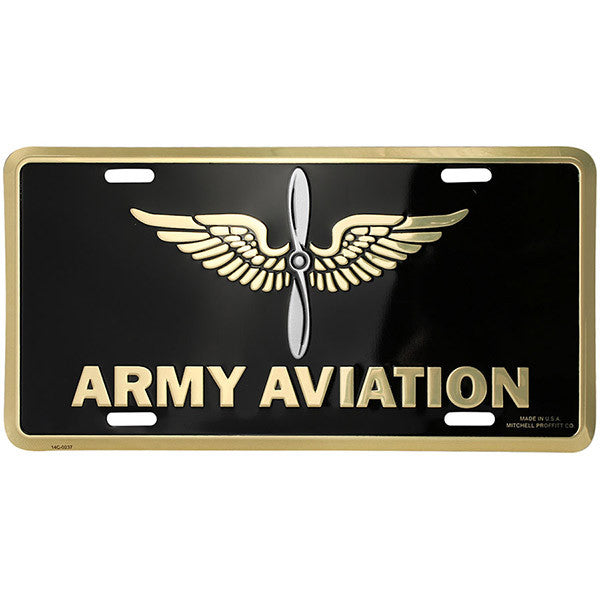 Army Aviation License Plate