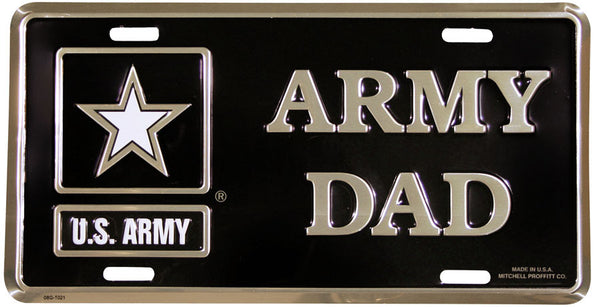 Army Dad with Army Star Logo License Plate