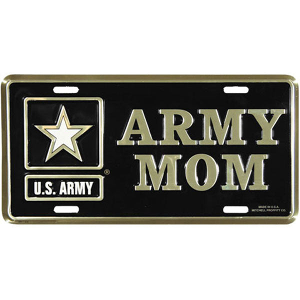 Army Mom with Army Star Logo License Plate