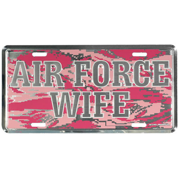 Air Force Wife Pink ABU Plate