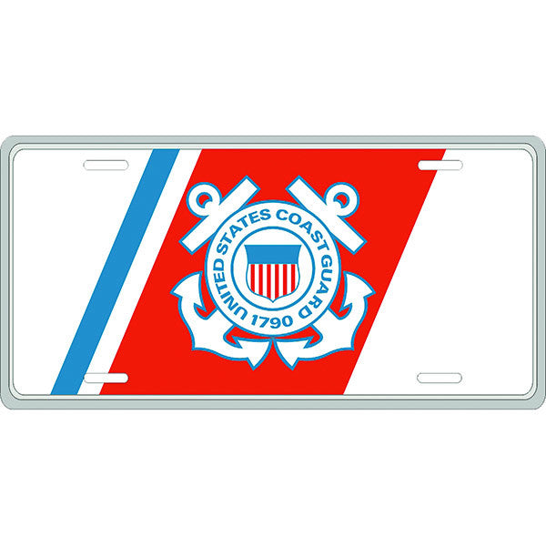 Coast Guard Insignia License Plate
