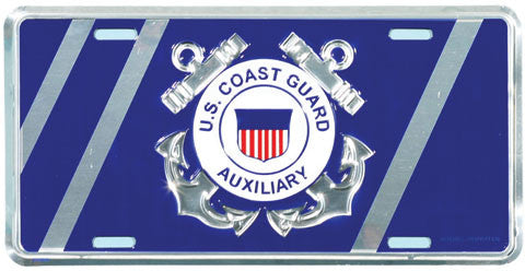 Coast Guard Auxiliary License Plate