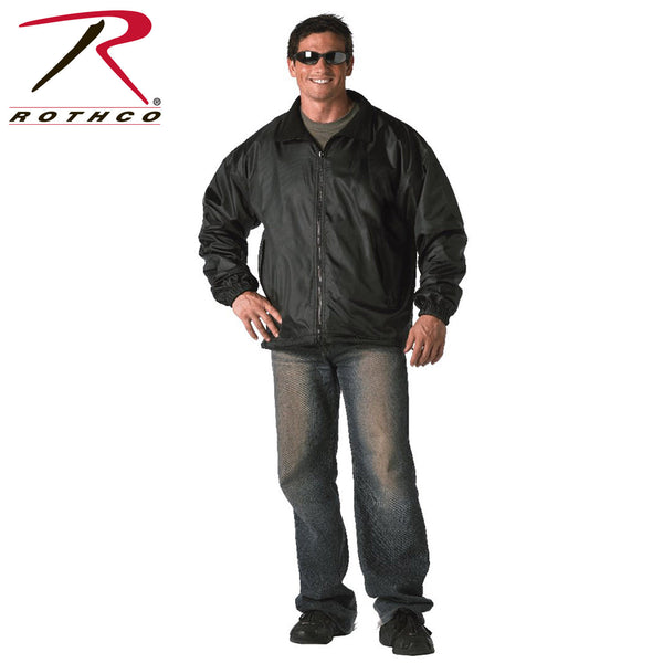 Rothco Black Reversible Fleece-Lined Nylon Jacket