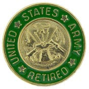 "PIN-ARMY LOGO,SOLDIER FOR LIFE ""RETIRED"" (3/4"")"