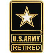 "PIN-ARMY LOGO,SOLDIER FOR LIFE ""RETIRED"" (1"")"