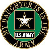 "PIN-ARMY SYMBOL,DAUGHTER (1"")"