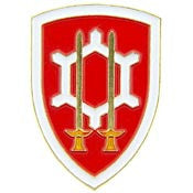 "PIN-ARMY,ENG.COMM.,SHEILD (1"")"
