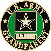 "PIN-ARMY LOGO,GRANDPARENT (1"")"