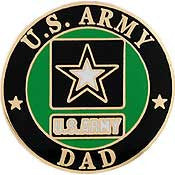 "PIN-ARMY LOGO,DAD (1"")"