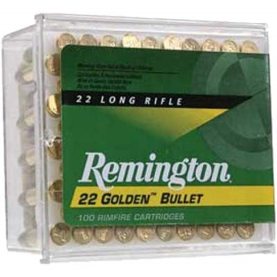 Remington 22LR Golden Bullet R21276 40 gr Plated RN 100 per box