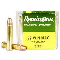 Remington 22 WMR R22M1 40 Gr JHP 50 per Box