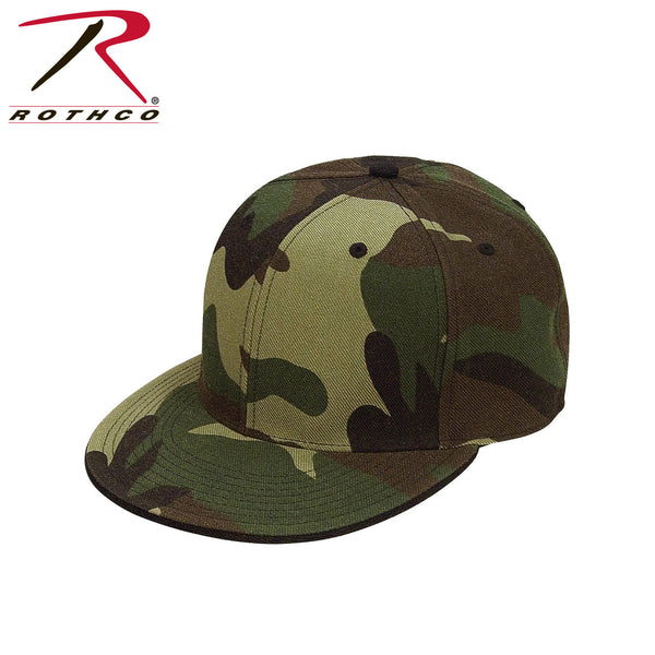 Rothco 6-Panel Fitted Cap - Woodland Camo