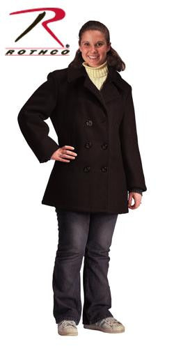 Rothco Women's Navy Type Black Wool Peacoat
