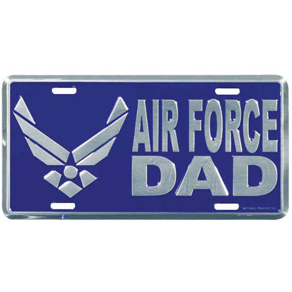 Air Force Dad with Wing Logo License Plate