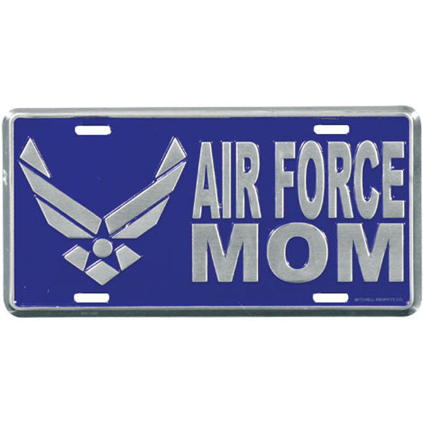 Air Force Mom with Wing Logo License Plate