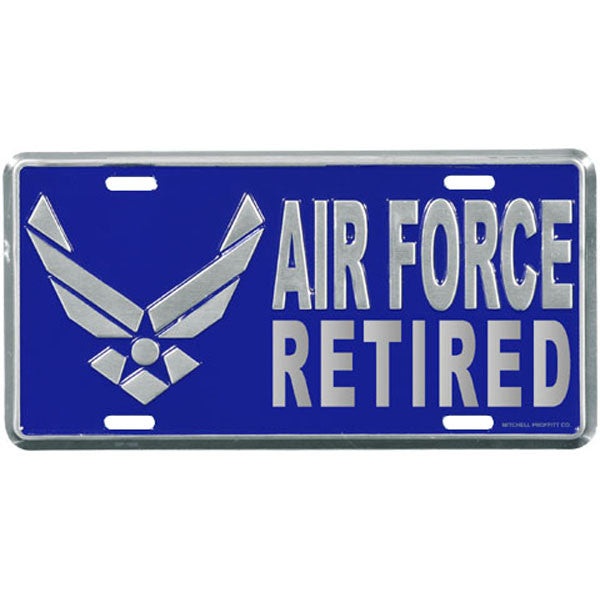 Air Force Retired License Plate