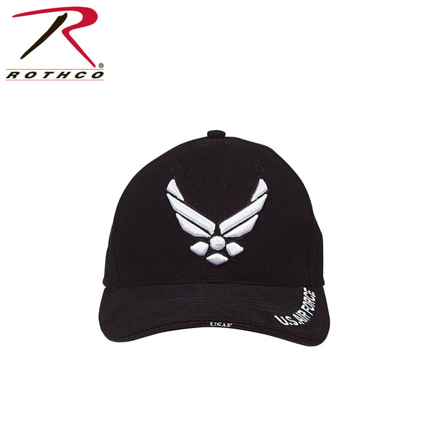 22d0431a477 Rothco Deluxe U.S. Air Force Wing Low Profile Insignia Cap