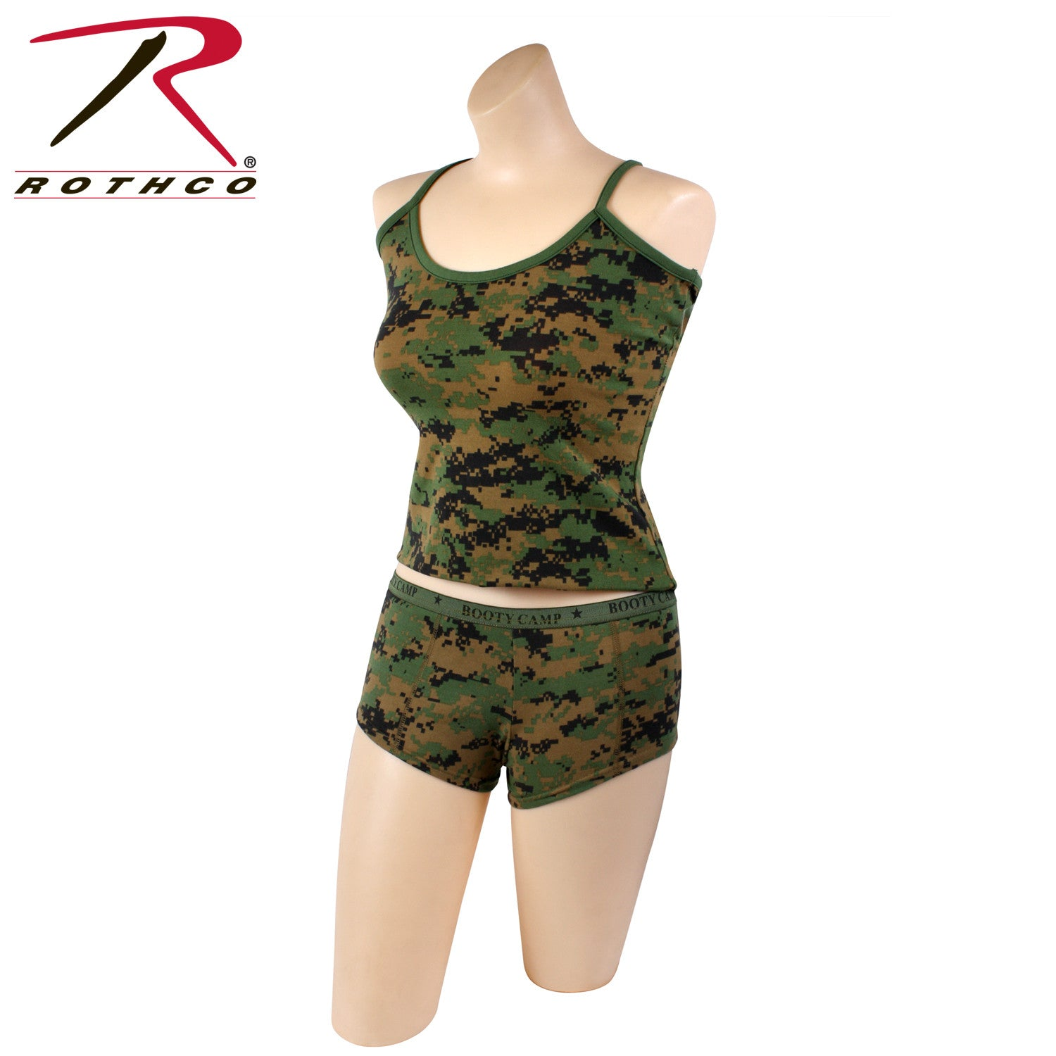 77a9448fb Rothco Woodland Digital   Booty Camp   Booty Shorts   Tank Top - GI ...