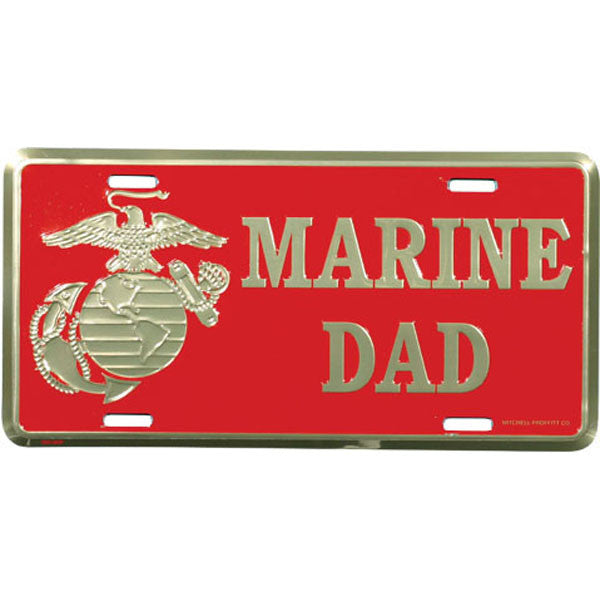 Marine Dad with Eagle License Plate