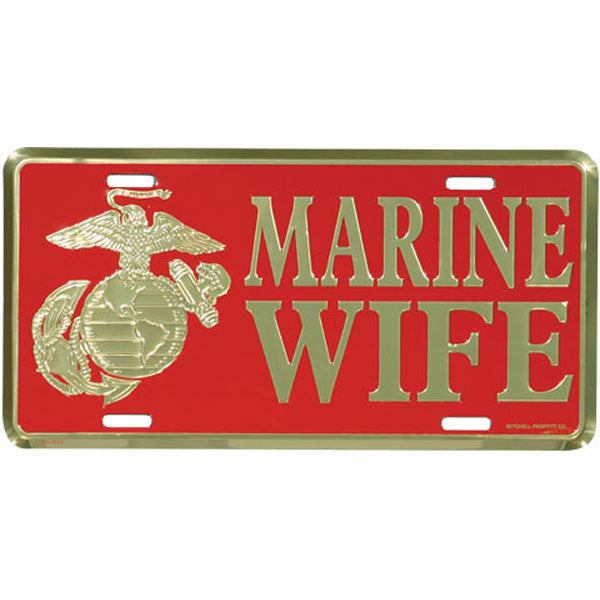 Marine Wife License Plate