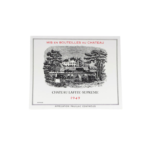 SUPREME CHATEAU LAFITE STICKER