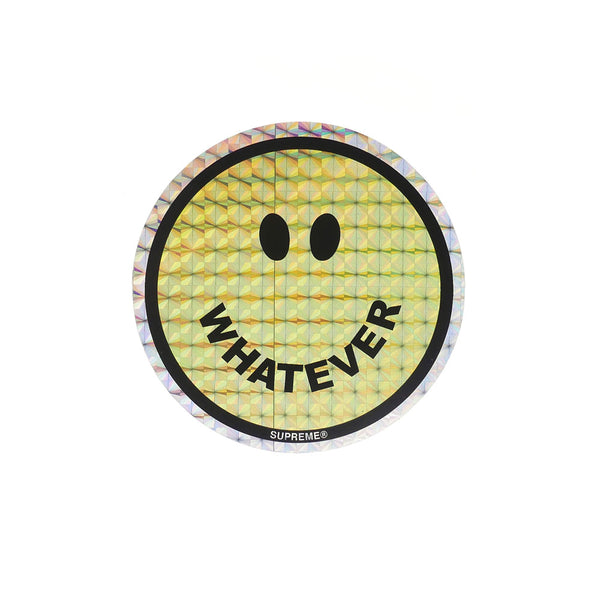 SUPREME WHATEVER SMILEY FACE STICKER
