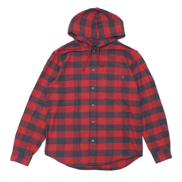 SUPREME HOODED BUFFALO PLAID FLANNEL